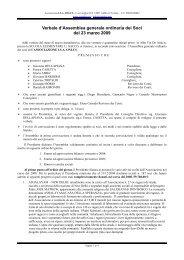 Verbale Assemblea Ordinaria dei Soci 23/03/2009 - ISA Onlus
