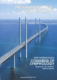 PROGRAMME BOOK ABSTRACT BOOK - Lymphology 2011