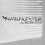 Le Giornate del Cinema Muto 2005 Sommario / Contents
