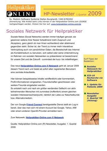 HP-Newsletter 1. Quartal 2009 - Heilpraktiker-Online.com