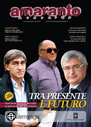 Amaranto magazine aprile 2010