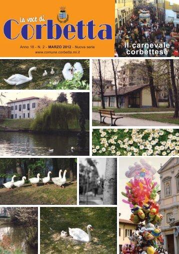 Numero 2, marzo 2012 (pdf - 4142,95 Kb) - Comune di Corbetta