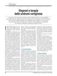 Diagnosi e terapia delle sindromi vertiginose - Passoni Editore
