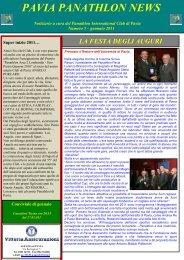 2011-01 Pavia Panathlon News di Gennario - FisioSport