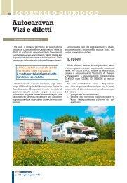 Autocaravan Vizi e difetti - Coordinamento Camperisti