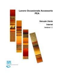 Lavoro Occasionale Accessorio PEA - Inps
