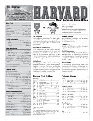 Men's Lacrosse Game Notes - Home Page Content Goes Here