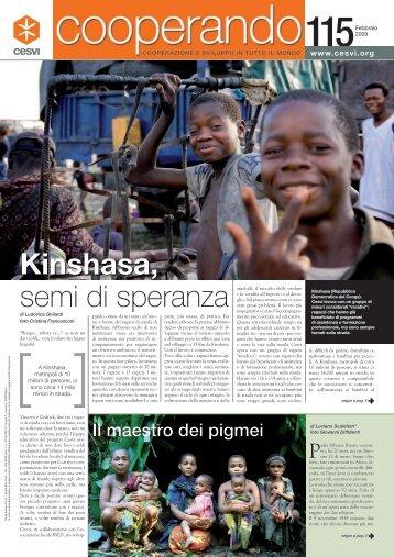semi di speranza Kinshasa, - Cesvi