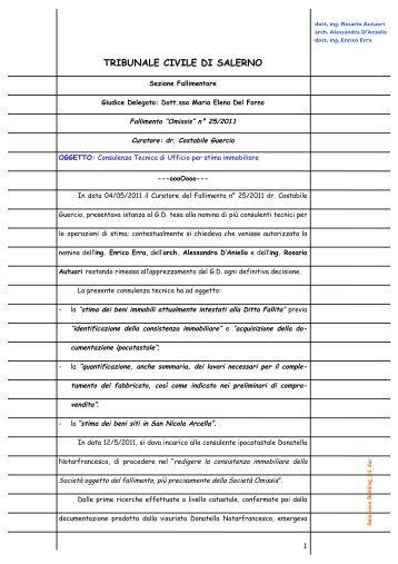 Relazione - Aste Giudiziarie Salerno