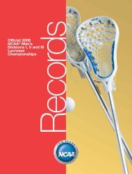 2006 NCAA Men's Lacrosse Championships Records Book