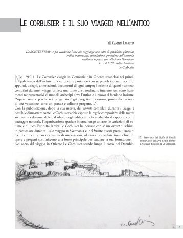 le corbusier e il suo viaggio nell'antico - La scuola di Pitagora editrice