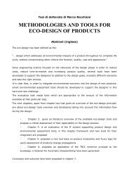 METHODOLOGIES AND TOOLS FOR ECO-DESIGN OF PRODUCTS