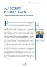 Alla scoperta dell'aiuto Comune di Claudia Farallo - Volontariato Lazio