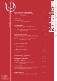 Anno 12 - numero 2/2006 - Ordine Psicologi Toscana