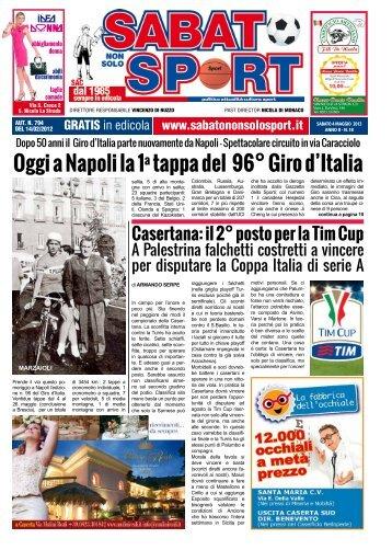 Oggi a Napoli la 1a tappa del 96° Giro d'Italia - Sabato Non Solo Sport