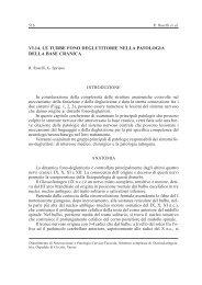 Le Turbe Fono Deglutitorie nella Patologia della Base Cranica - AOOI