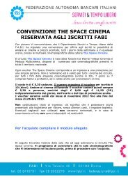 convenzione the space cinema riservata agli iscritti fabi