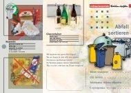 Download internationalen Flyer Abfallsortierung