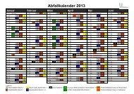 Abfallkalender 2013 alle Bezirke