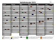 Abfallkalender 2013 Bezirk 8