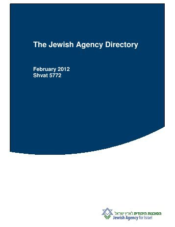 The Jewish Agency Directory - Jewish Agency for Israel