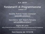 Fondamenti di Programmazione - TWiki
