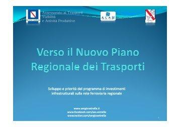 Verso il Nuovo Piano Regionale dei Trasporti - Sergio Vetrella