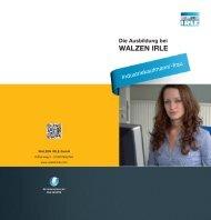 Industriekauffrau/-mann - WALZEN IRLE GmbH