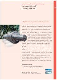 Hartguss ? Einstoff KT-480; -520; -560 - WALZEN IRLE GmbH