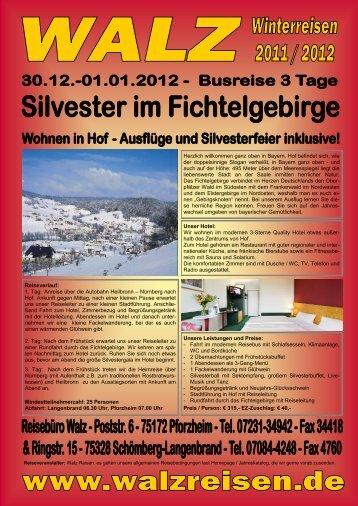 Herzlich willkommen ganz oben in Bayern. Hof ... - WALZ Reisen