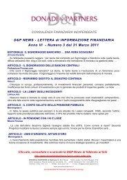 D&P News Anno 6 n. 3 del 31 Marzo 2011 - Donadi and Partners di ...
