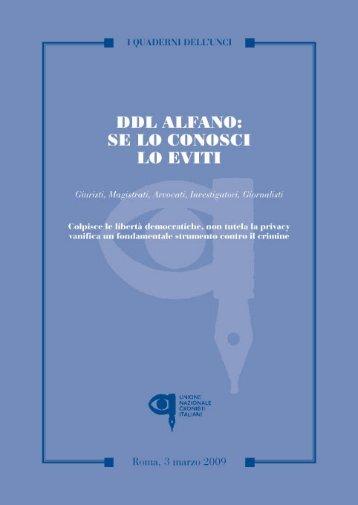Quaderno Alfano - Osservatorio sulla legalita