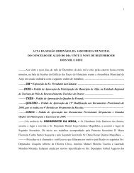 Acta da Sessão de Assembleia de 29/12 - Câmara Municipal de Alijó