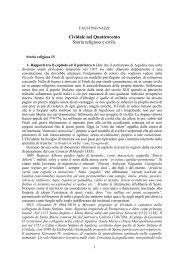 Storia religiosa IV - Dott. Faustino Nazzi