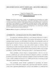 ORGANISMOS GENETICAMENTE MODIFICADOS – REFLEXÕES ...