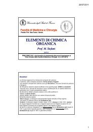 ELEMENTI ELEMENTI DI CHIMICA ORGANICA - Medicina e Chirurgia