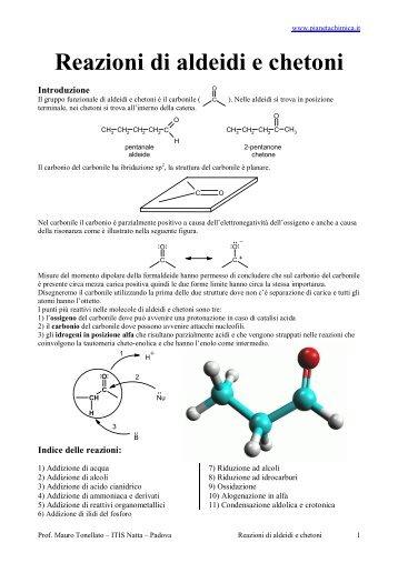 Reazioni di Aldeidi e Chetoni con Mecc.pdf - PianetaChimica