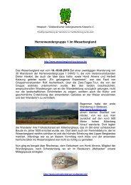 Herrenwandergruppe 1 im Weserbergland - Hessisch ...