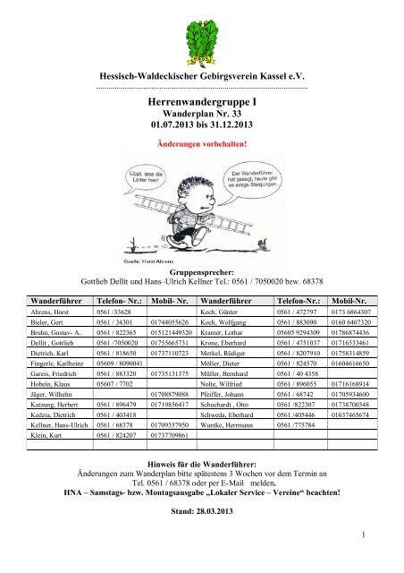 Herren 1 - Hessisch- Waldeckischer Gebirgs