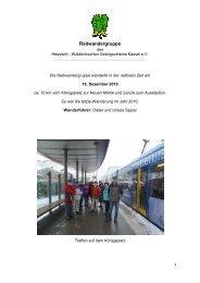 Radwandergruppe - Hessisch- Waldeckischer Gebirgs