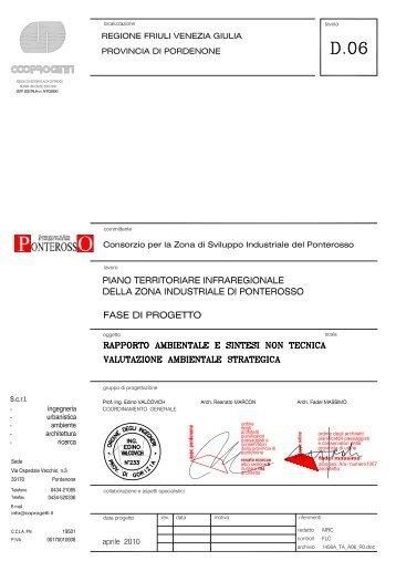 2 contenuti del piano territoriale infraregionale - Consorzio per la ...