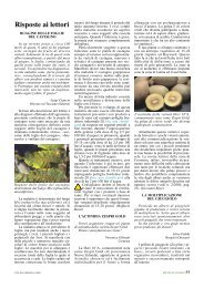 Risposte ai lettori - L'Informatore Agrario