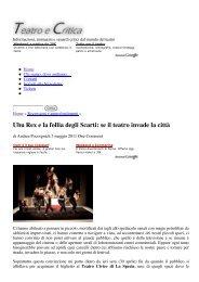 Recensione di Andrea Pocosgnich su Teatro e Critica