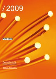 Annual Report 2009 (PDF | 3.7 MB) - Wacker Chemie