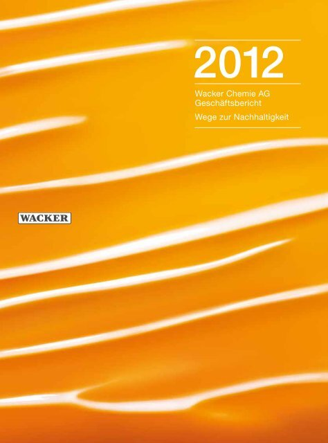 Geschäftsbericht 2012 (PDF | 4,1 MB) - Wacker Chemie