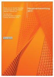 Rede Dr. Staudigl (PDF | 767 KB) - Wacker Chemie