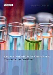 Organic intermediates and silanes - Wacker Chemie