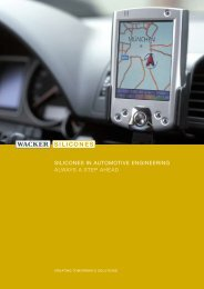 silicones in automotive engineering always a step ... - Wacker Chemie