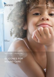 Silicones For Wound Care (PDF | 646 KB) - Wacker Chemie