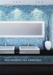 Shape the future with modern tile adhesives - Wacker Chemie